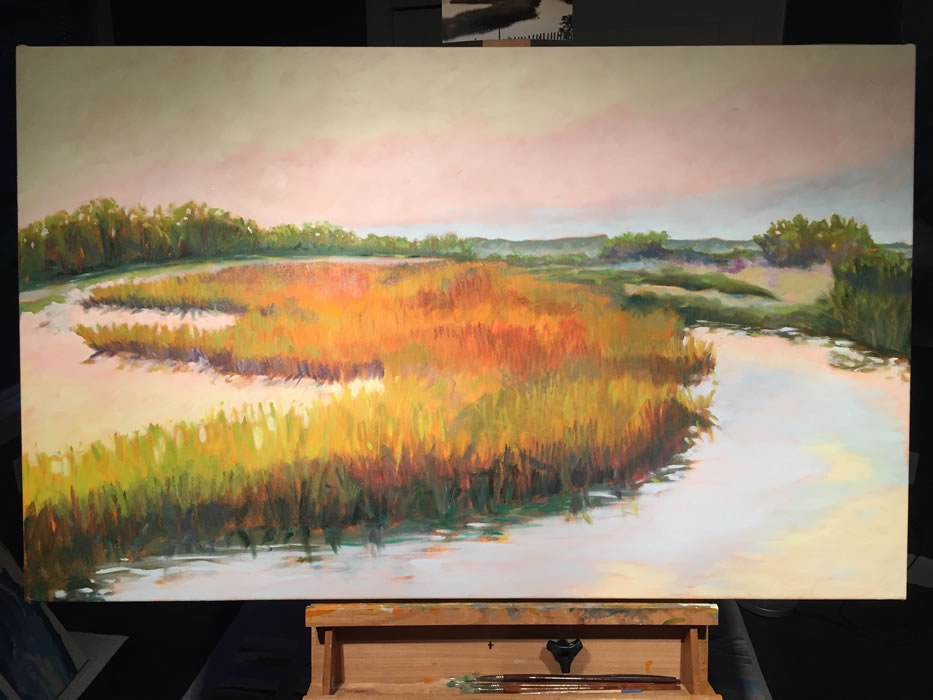 """""""Morning Tide""""  30x48"""" Oils on canvas"""
